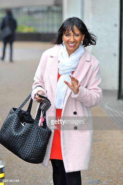 TV presenter Ranvir Singh seen outside the ITV Studios on January 31 2017 in London England