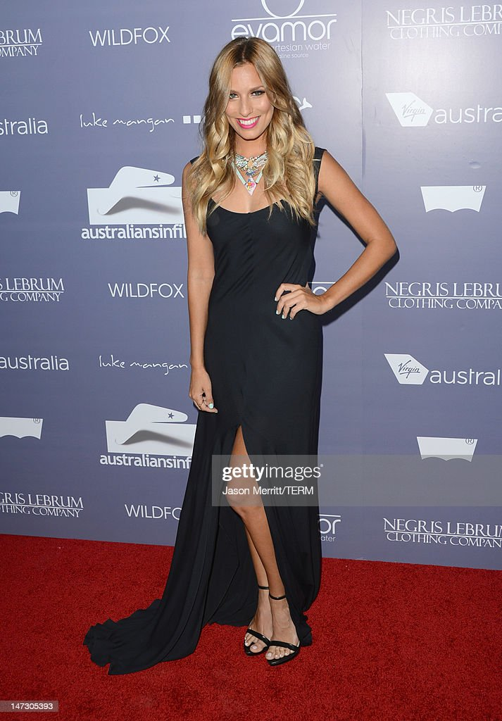 Presenter Renee Bargh arrives at Australians In Film Awards & Benefit Dinner at InterContinental Hotel on June 27, 2012 in Century City, California.