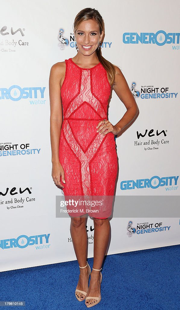 Presenter Renee Bargh attends Generosity Water's 5th Annual Night of Generosity Benefit at the Beverly Hills Hotel on September 6, 2013 in Beverly Hills, California.