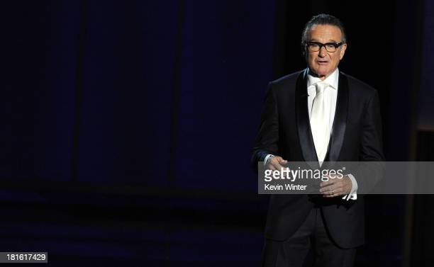 Presenter Robin Williams speaks onstage during the 65th Annual Primetime Emmy Awards held at Nokia Theatre LA Live on September 22 2013 in Los...