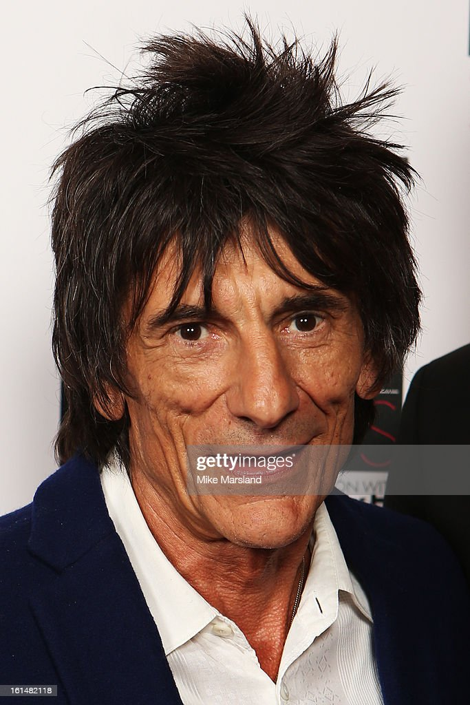 Presenter Ronnie Wood poses in the press room at the Elle Style Awards at The Savoy Hotel on February 11, 2013 in London, England.