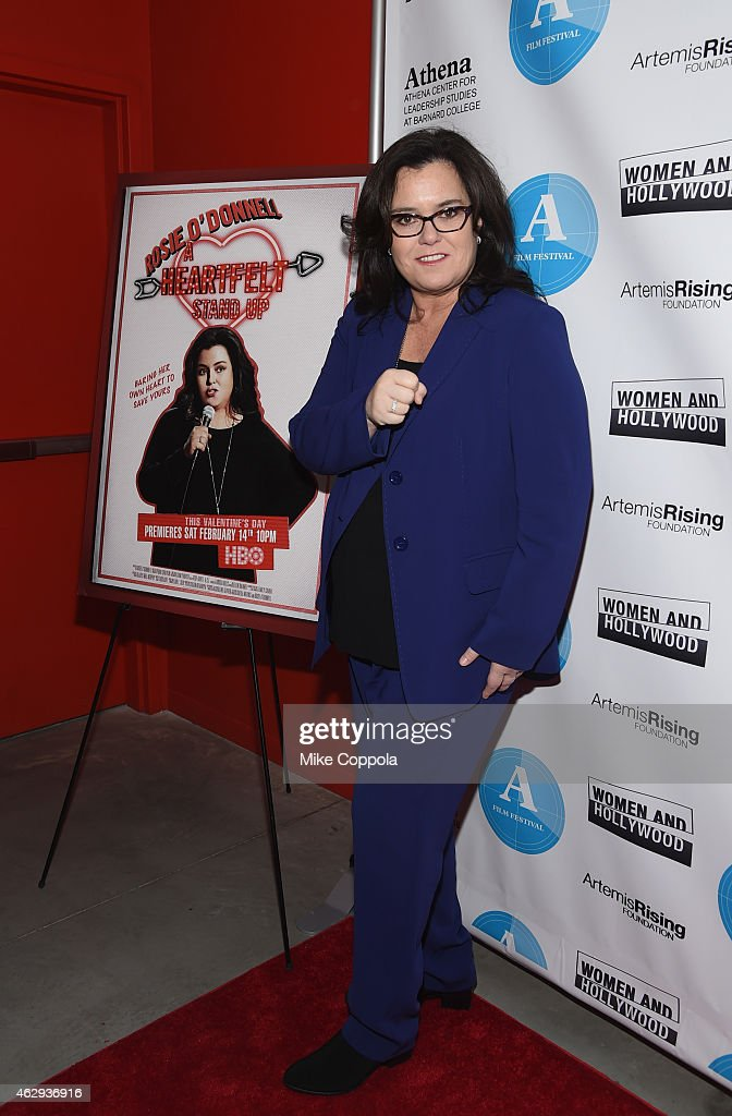 Presenter Rosie O'Donnell attends the 5th Annual Athena Film Festival Ceremony Reception at Barnard College on February 7 2015 in New York City