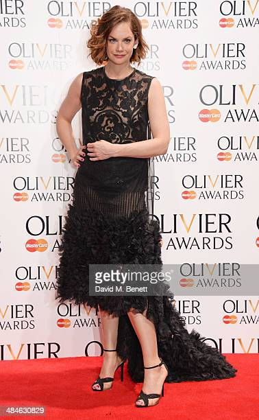 Presenter Ruth Wilson poses in the press room at the Laurence Olivier Awards at The Royal Opera House on April 13 2014 in London England