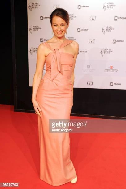 Presenter Sabrina Staubitz attends the HenriNannenAward at the Schauspielhaus on May 7 2010 in Hamburg Germany