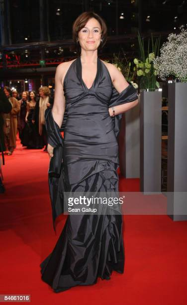 TV presenter Sandra Maischberger attends the premiere for 'The International' as part of the 59th Berlin Film Festival at the Berlinale Palast on...