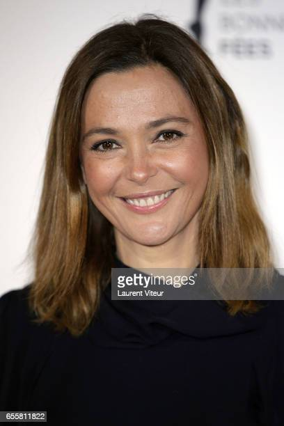 Presenter Sandrine Quetier attends 'Les Bonnes Fees' Charity Gala at Hotel D'Evreux on March 20 2017 in Paris France
