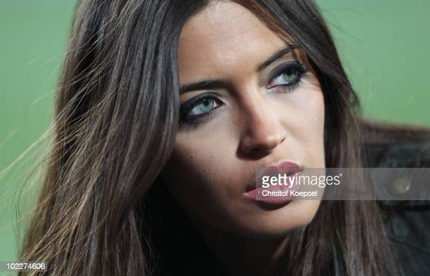 Presenter Sara Carbonero girlfriend of Iker Casillas of Spain attends the 2010 FIFA World Cup South Africa Group H match between Spain and Honduras...
