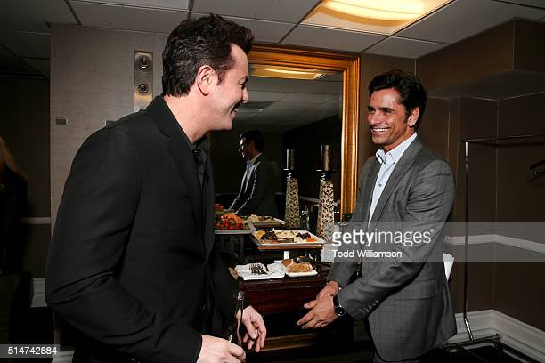 Presenter Seth MacFarlane and Master of Ceremonies John Stamos attend the Alliance for Children's Rights' 24th annual dinner at The Beverly Hilton...