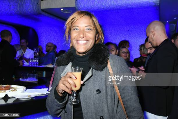 TV presenter Shana Delacroix attends 'Identik' by M Pokora Launch Party at Duplex Club on September 17 2017 in Paris France