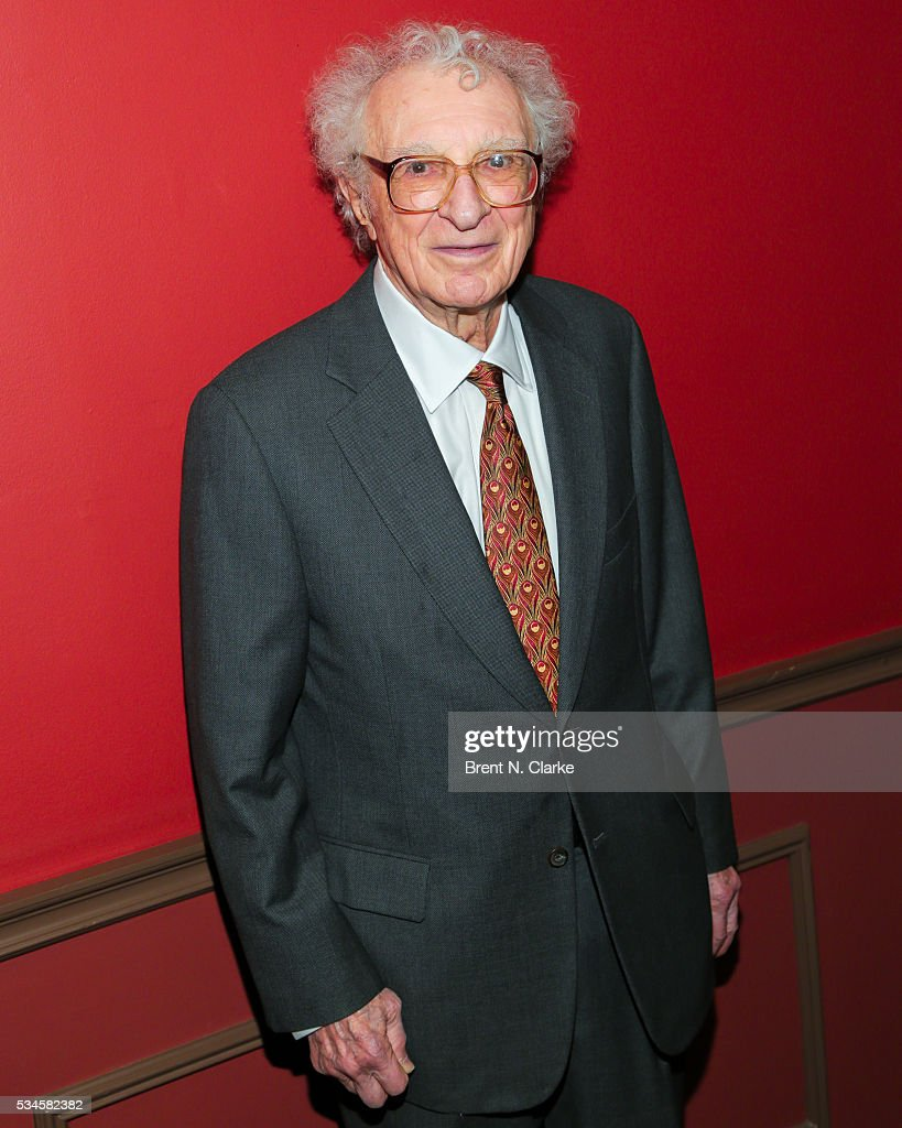 Presenter <a gi-track='captionPersonalityLinkClicked' href=/galleries/search?phrase=Sheldon+Harnick&family=editorial&specificpeople=2242531 ng-click='$event.stopPropagation()'>Sheldon Harnick</a> attends the 66th Annual Outer Critics Circle Theatre Awards held at Sardi's on May 26, 2016 in New York City.