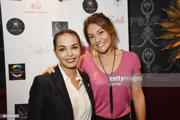 TV presenter Shirley Bousquet and producer Saida JawadÊattends the 'Souffle de Violette' Auction Party As part of 'Octobre Rose' Hosted by Ereel at...