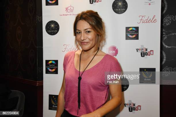 TV presenter Shirley Bousquet attends the 'Souffle de Violette' Auction Party As part of 'Octobre Rose' Hosted by Ereel at Fidele Club on October 16...