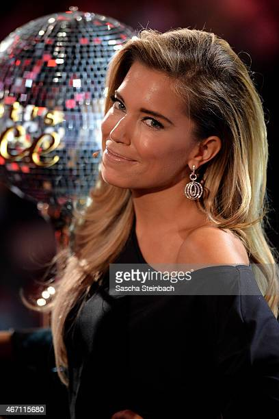 Presenter Silvie Meis looks on during the 2nd show of the television competition 'Let's Dance' on March 20 2015 in Cologne Germany