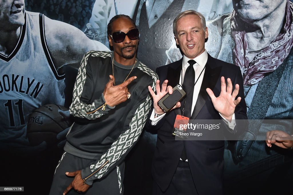 Presenter Snoop Dogg and Edward Maher attend the 32nd Annual Rock & Roll Hall Of Fame Induction Ceremony at Barclays Center on April 7, 2017 in New York City. Debuting on HBO Saturday, April 29, 2017 at 8:00 pm ET/PT