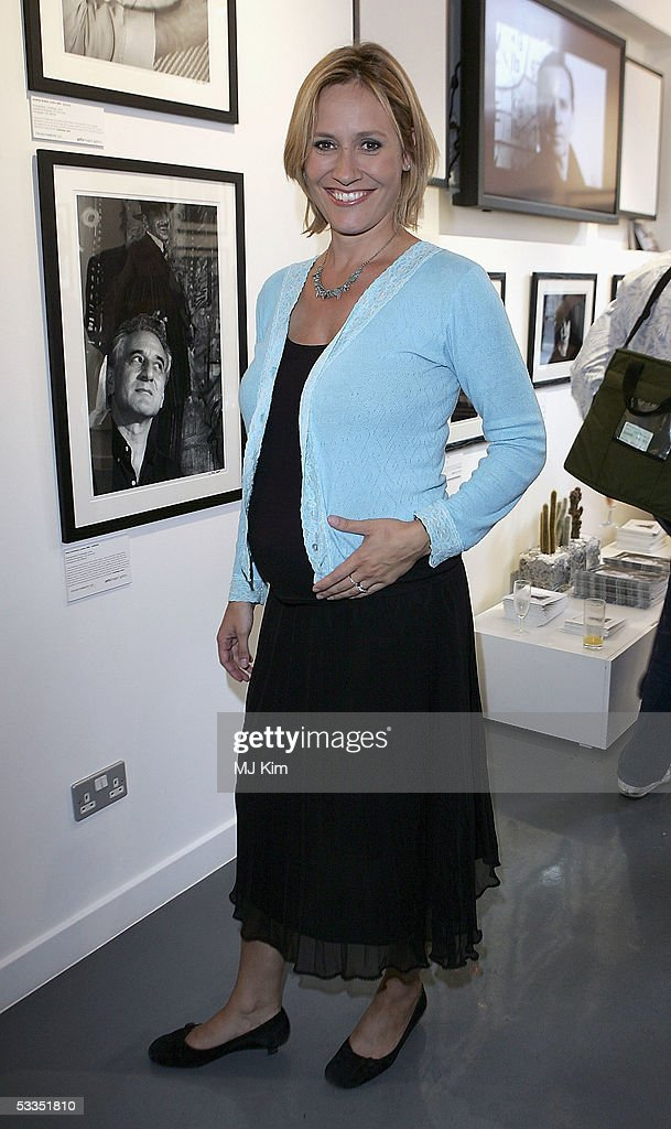TV presenter Sophie Raworth is seen at the private view for 'Off Stage: The RADA Centenary Portraits', photographer Cambridge Jones's photographs of 100 Royal Academy Of Dramatic Art-trained stars marking the acting school's centenary, at the Getty Images Gallery on August 10, 2005 in London, England.