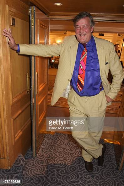 Presenter Stephen Fry attends the South Bank Sky Arts awards at The Savoy Hotel on June 7 2015 in London England