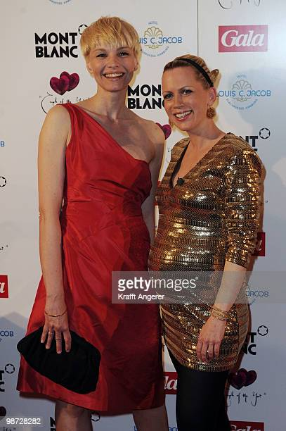 Presenter Susann Atwell and Tamara Graefin von Nayhauss pose at the GALA Couple of the Year Event on April 28 2010 in Hamburg Germany