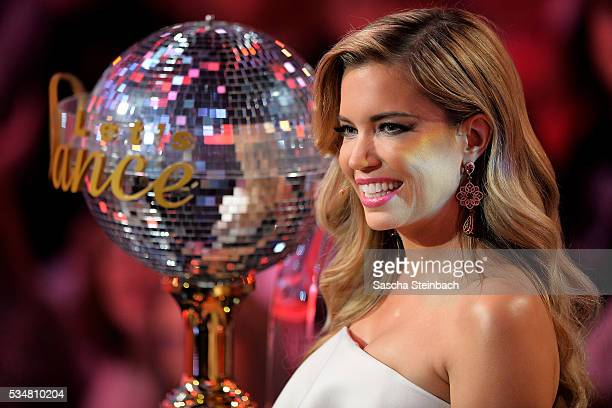 Presenter Sylvie Meis looks on during the 11th show of the television competition 'Let's Dance' at Coloneum on May 27 2016 in Cologne Germany