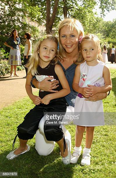 TV presenter Tania Bryer and her daughters attend the Boutique Launch Party for French fashion house Dior's new Baby Dior outlet at its Harriet...