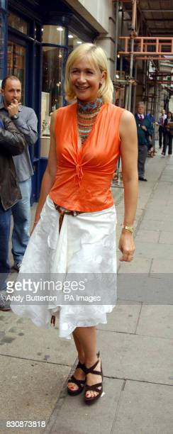 TV presenter Tania Bryer arriving at the BAFTA offices in London's Piccadilly for the Cable Guide TV Awards 2002
