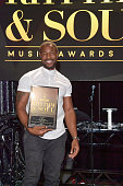 Presenter Tank poses with award onstage at the 2016 ASCAP Rhythm Soul Awards at the Beverly Wilshire Four Seasons Hotel on June 23 2016 in Beverly...