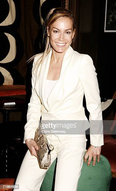 TV presenter Tara PalmerTomkinson attends the after party following the charity gala screening of 'The Devil Wears Prada' at Sketch on September 21...