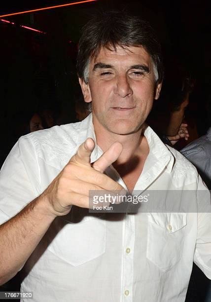 TV presenter Tex attends the Big Ali Party at the VIP Room in Saint Tropez on August 16 2013 in Saint Tropez France