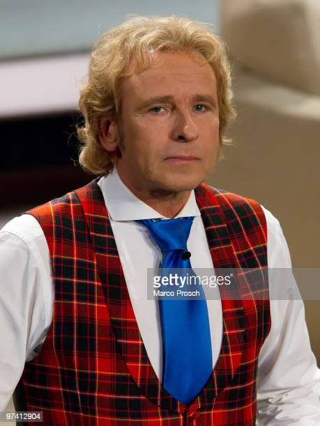 Presenter Thomas Gottschalk hosts the 187th 'Wetten dass' show at the Messe Erfurt on February 27 2010 in Erfurt Germany