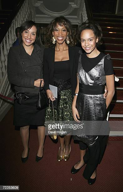 TV presenter Trisha Goddard and her daughters Billie and Maddie arrive at the London premiere of 'Dirty Dancing The Classic Story On Stage' at...