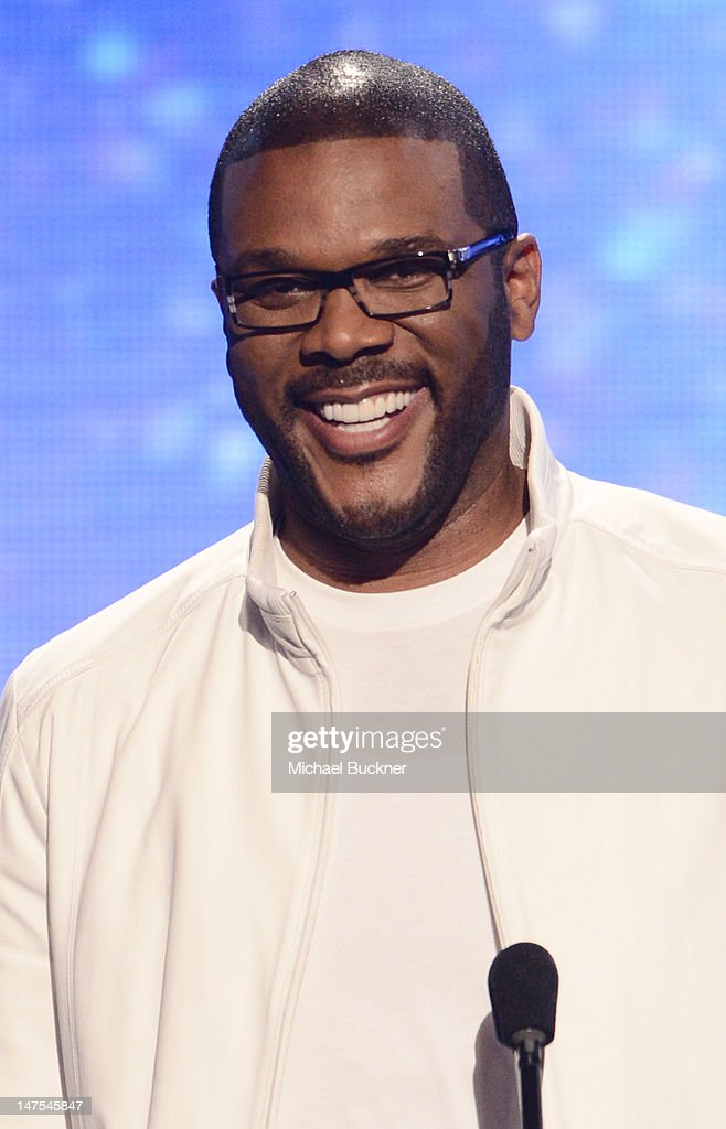 Presenter Tyler Perry speaks onstage during the 2012 BET Awards at The Shrine Auditorium on July 1 2012 in Los Angeles California