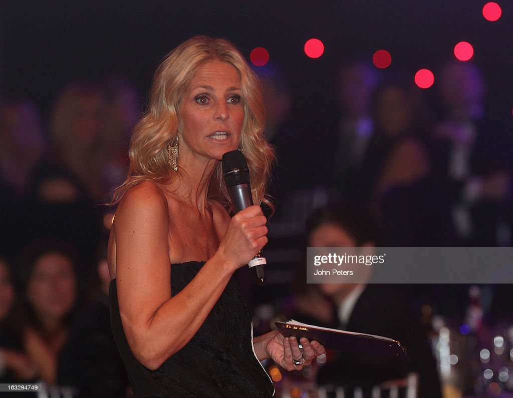 TV presenter Ulrika Jonsson hosts Dancing for United, a ballroom dancing event in aid of the Manchester United Foundation, at Old Trafford on March 7, 2013 in Manchester, England.