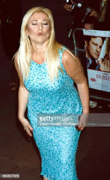 TV presenter Vanessa Feltz arriving for the UK premiere of 'Bridget Jones Diary' at the Empire in London's Leicester Square