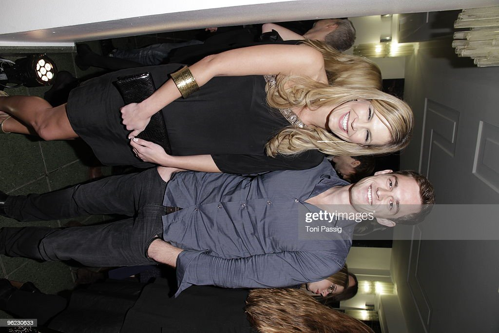 TV presenter Verena Wriedt and partner model Marcus Zierke arrives at the Michalsky Style Night during the Mercedes-Benz Fashion Week Berlin Autumn/Winter 2010 at the Friedrichstadtpalast on January 22, 2010 in Berlin, Germany.