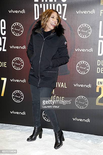 TV Presenter Virginie Guilhaume attends the Photocall 'Le Jamel Comedy Club prend de l'Altitude at Le Signal at a 2108 meter height on January 18...