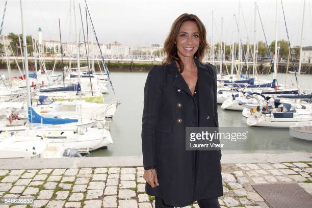 Presenter Virginie Guilhaume poses for Jury Photocall during the 19th Festival of TV Fiction on September 13 2017 in La Rochelle France
