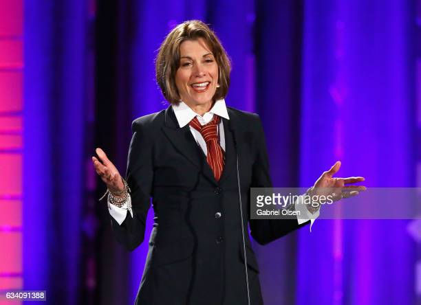 Presenter Wendie Malick speaks onstage at the 16th Annual AARP The Magazine's Movies For Grownups Awards at the Beverly Wilshire Four Seasons Hotel...