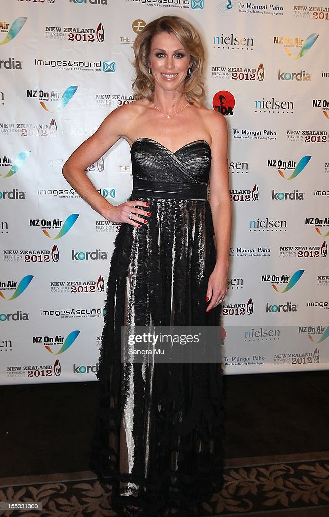 Presenter Wendy Petrie poses as she arrives for the New Zealand Television Awards at the Langham Hotel on November 3, 2012 in Auckland, New Zealand.