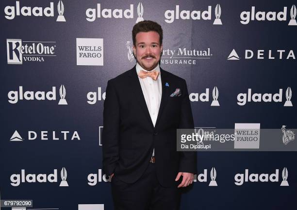 Presenter Zeke Smith attends 28th Annual GLAAD Media Awards at The Hilton Midtown on May 6 2017 in New York City