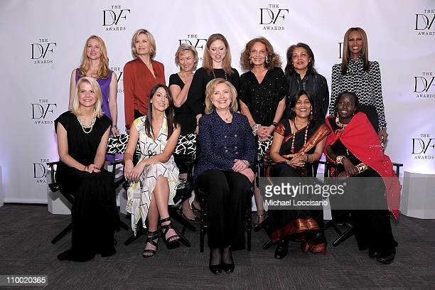 Presenters actress Laura Linney anchorwoman Diane Sawyer The Daily Beast and Newsweek editorinchief Tina Brown Chelsea Clinton designer Diane von...