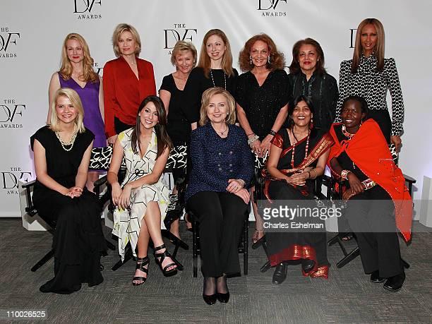 Presenters actress Laura Linney news anchor Diane Sawyer Newsweek editorinchief Tina Brown Chelsea Clinton designer Diane von Furstenberg Ambassador...