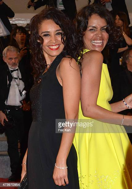 TV presenters Aida Touihri and Laurence Roustandjee attend 'Mon Roi' Premiere during the 68th annual Cannes Film Festival on May 17 2015 in Cannes...