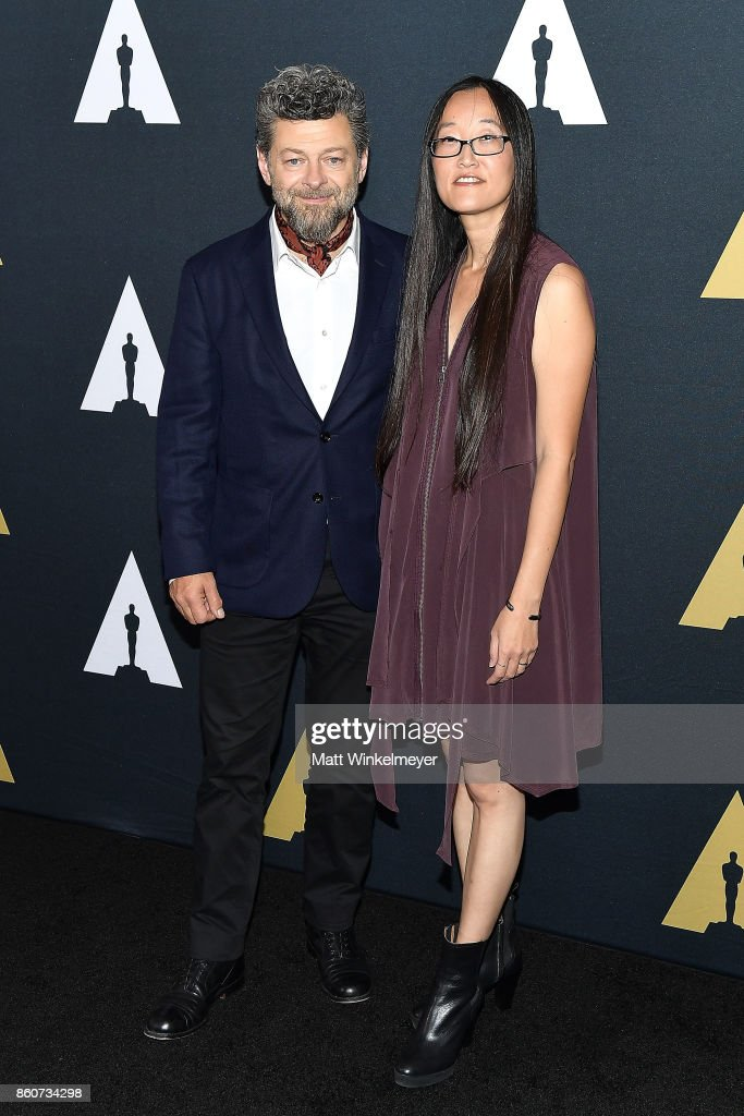 Presenters Andy Serkis (L) and Jennifer Yuh Nelson attend the Academy of Motion Picture Arts and Sciences 44th Student Academy Awards at Samuel Goldwyn Theater on October 12, 2017 in Beverly Hills, California.