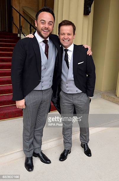 TV presenters Ant and Dec arrive at Buckingham Palace where the pair will be awarded OBEs by the Prince of Wales at an Investiture ceremony on...