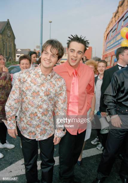 TV presenters Ant and Dec at the opening night of 'Summer Holiday' at Blackpool Opera House 6th June 1996