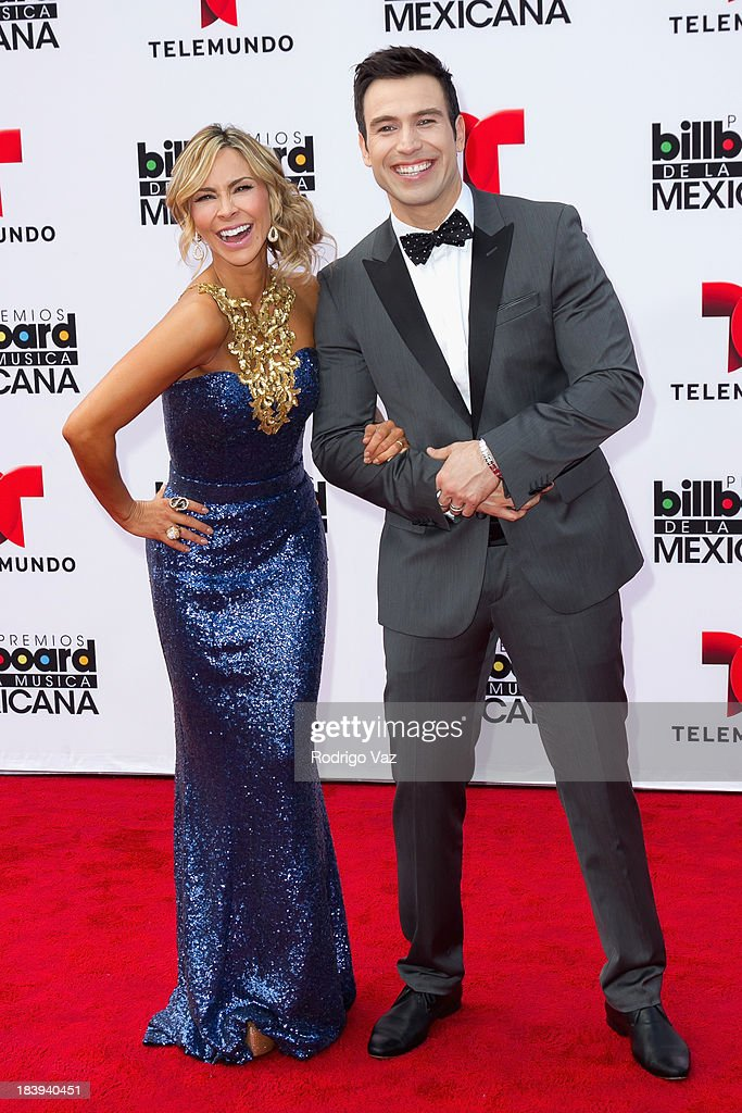 Presenters Aylin Mujica (L) and Rafael Amaya attend the 2013 Billboard Mexican Music Awards arrivals at Dolby Theatre on October 9, 2013 in Hollywood, California.