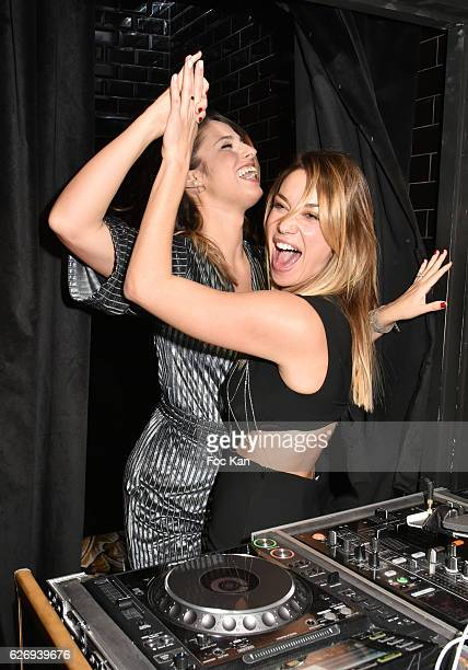 TV presenters Charlotte Namura and Clio Pajczer attend Charlotte Namura and Clio Pajczer DJ Party at La Gioia in VIP Room Theater on November 30 2016...