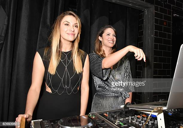 TV presenters Clio Pajczer and Charlotte Namura attend Charlotte Namura and Clio Pajczer DJ Party at La Gioia in VIP Room Theater on November 30 2016...