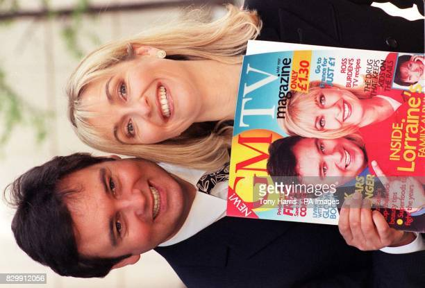GMTV presenters Eamonn Holmes and Fiona Phillips at the launch of the morning programme's new monthly magazine in London today The magazine published...