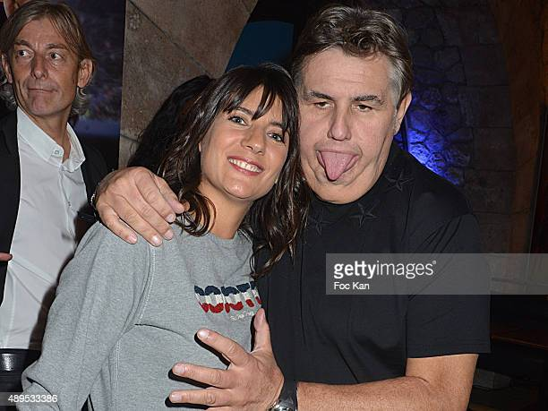 TV presenters Estelle Denis and Pierre Menes attend the 'FIFA 16 Live Event' at the Faust Club on September 21 2015 in Paris France