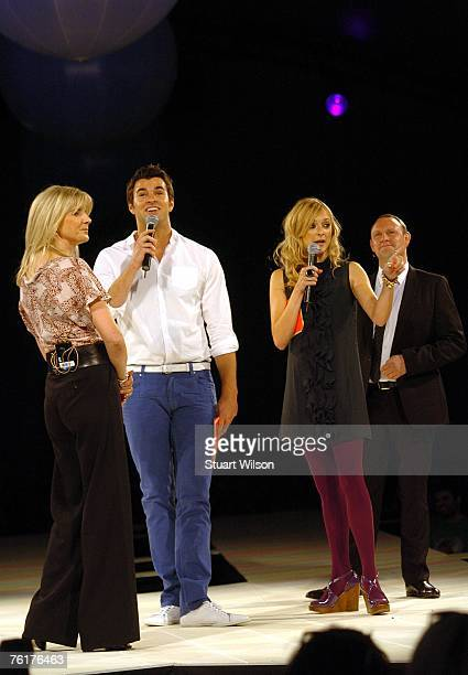 Presenters Fearne Cotton and Steve Jones attend the Top Shop employees summer party at Hedsor House on August 16 2007 in Taplow Essex